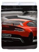 Aston Martin Vantage Gt12 - Trackday Duvet Cover