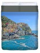 Astonishing Magnificient Manarola In Cinque Terre Duvet Cover