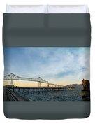 Astoria Megler Bridge By Riverwalk Panorama Duvet Cover