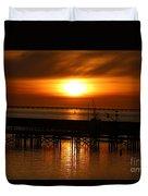 Astoria Oregon Sunset Duvet Cover