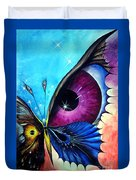Astral Butterfly. Soul - Memory - Mind Duvet Cover