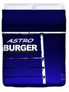Astro Burger Duvet Cover