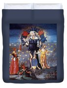 Astrology With Fates Duvet Cover