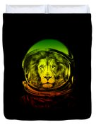 Astronaut Lion Colorful Ready For Space Duvet Cover