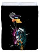 Astronaut Ufo Balloon Outer Space Shuttle  Duvet Cover