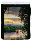 At A Bend In The River Duvet Cover by Kendall McKernon