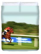 At A Breakneck Speed Duvet Cover