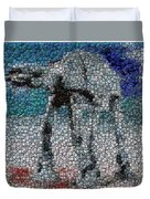 At-at Bottle Cap Mosaic Duvet Cover by Paul Van Scott