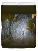 At Autumn Park Duvet Cover