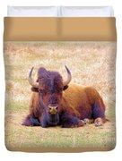 A Buffalo Staring Duvet Cover