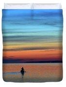 At Dawn In A Canoe  Duvet Cover