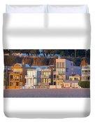At Home On Santa Monica Beach Duvet Cover