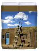 At Home Taos Pueblo Duvet Cover by Kurt Van Wagner
