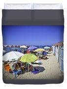 At Mondello Beach - Sicily Duvet Cover