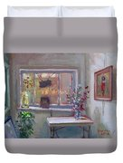 At River Art Gallery Duvet Cover