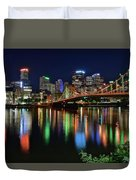 At Rivers Edge In Pittsburgh Duvet Cover