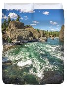 At Riverside Bowl And Pitcher State Park In Spokane Washington Duvet Cover