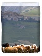 Castelluccio Di Norcia, Parko Nazionale Dei Monti Sibillini, Italy Duvet Cover