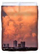 At Sunset In West Palm Beach Duvet Cover