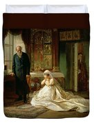 At The Altar Duvet Cover by Firs Sergeevich Zhuravlev
