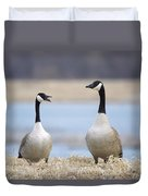 At The Bank Duvet Cover
