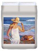 At The Beach Duvet Cover