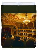At The Budapest Opera House Duvet Cover