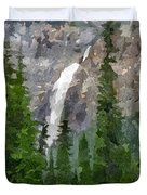 At The Edge Of The Falls Duvet Cover
