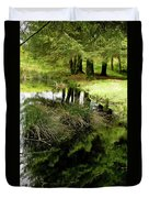 At The Edge Of The Forest Pond. Duvet Cover