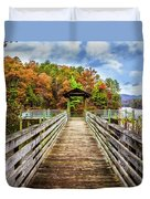 At The End Of The Dock Duvet Cover