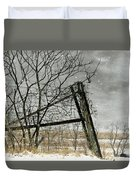 At The End...fence Post Duvet Cover