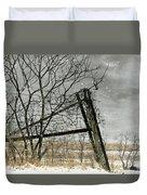 At The End...fence Post Duvet Cover by Stephanie Calhoun