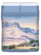 At The Foot Of Mountains Duvet Cover