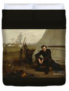 At The Front Duvet Cover by George Cochran Lambdin