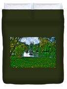 At The Lake In Central Park Duvet Cover