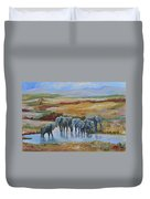 At The Oasis  Duvet Cover
