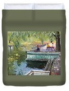 At The Park By The Water Duvet Cover