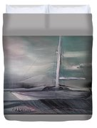 At The Pier Duvet Cover by Gregory Dallum