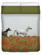 At The Poppies' Field... Duvet Cover
