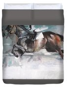 At The Races Duvet Cover
