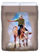 At The Rodeo Duvet Cover
