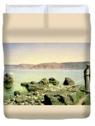 At The Sea Of Galilee Duvet Cover
