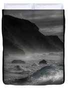 At The Sight Of The Wave Duvet Cover