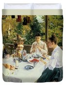 At The Tea-table Duvet Cover