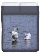 At Your Service. Mute Swan Duvet Cover