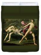 Atalanta And Hippomenes Duvet Cover