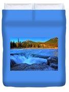 Athabasca Falls In Jasper National Park Duvet Cover