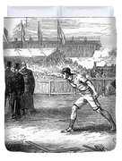 Athletics: Shot Put, 1875 Duvet Cover