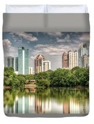 Atlanta As Viewed From Piedmont Park Duvet Cover