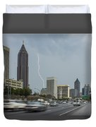 Atlanta Daytime Lightning Duvet Cover